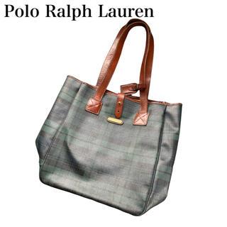 ポロラルフローレン(POLO RALPH LAUREN)のPolo Ralph Lauren トートバッグ チェック ヴィンテージ(トートバッグ)
