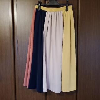 ノエラ(Noela)のノエラ配色フレアスカート(ひざ丈スカート)