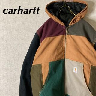 carhartt - 【リメイク 】カーハート アクティブパーカー ジャケット 一点モノ マルチカラー