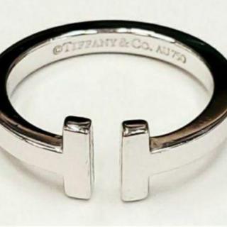 Tiffany & Co. - 正規品 ティファニー Tiffany&CO. スクエアリング 18KWG WG