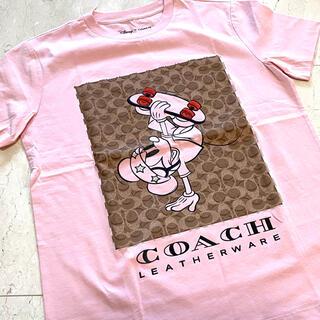COACH - 最新作! 新品 未使用 COACH コーチ ミッキー Tシャツ ピンク Sサイズ