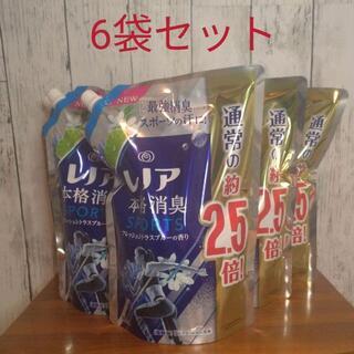 【6袋】レノア 本格消臭スポーツ フレッシュシトラスブルーの香り 柔軟剤(洗剤/柔軟剤)