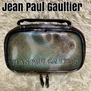 Jean-Paul GAULTIER - 【希少 極美品】ジャンポールゴルチエ 化粧ポーチ Vサイバー 玉虫色 廃盤品