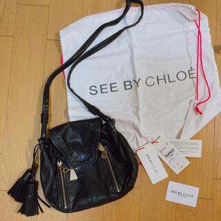 シーバイクロエ(SEE BY CHLOE)の美品♡ SEE BY CHLOE ショルダーバッグ  タッセル 黒色 バッグ(ショルダーバッグ)