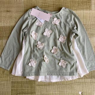 プティマイン(petit main)のプティマイン お花モチーフ チュニック(Tシャツ/カットソー)