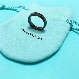 Tiffany & Co. - 【美品】Tiffany & Co. 1837 ナローリング15号 ブラックチタン