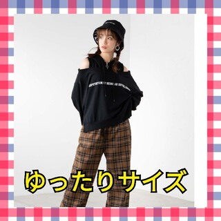 WEGO 韓国ファッション オーバーサイズ オフショル パーカー トップス 即日
