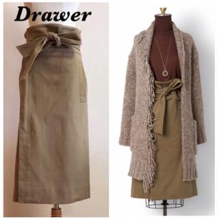ドゥロワー(Drawer)のDrawer リボンベルトラップスカート(ひざ丈スカート)