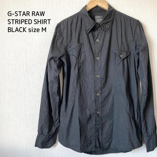 G-STAR RAW - G-STAR RAW ジースターロゥ ストライプシャツ メンズ 黒 M