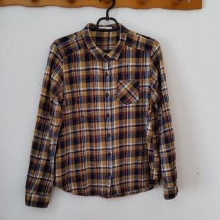 ショコラフィネローブ(chocol raffine robe)のショコラフィネローブ  チェックネルシャツ(シャツ/ブラウス(長袖/七分))