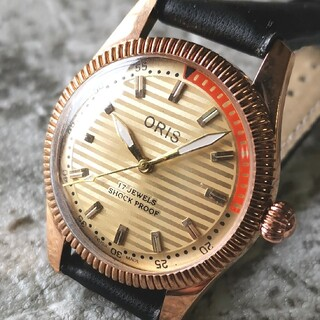 オリス(ORIS)のオリス ORIS ゴールド シルバー 17石 3針 1970s 整備済 機械式(腕時計(アナログ))
