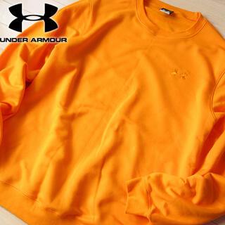 アンダーアーマー(UNDER ARMOUR)の美品 XL アンダーアーマー メンズ スウェット/トレーナー オレンジ(スウェット)
