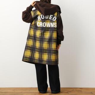 ロデオクラウンズワイドボウル(RODEO CROWNS WIDE BOWL)の今期新作 ロデオクラウンズ ニットメルトンフーデッドコート(ロングコート)