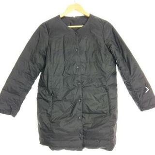 ムジルシリョウヒン(MUJI (無印良品))の無印良品 ポケッタブルダウンジャケット S 黒(ダウンコート)