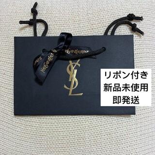 イヴサンローランボーテ(Yves Saint Laurent Beaute)のYSL イヴサンローラン ショッパー ショップ袋 ブラック リボン付き(ショップ袋)