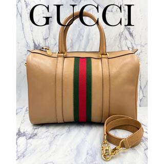 Gucci - オールドグッチ★ハンドバッグ ボストンバッグ シェリーライン クレストチャーム