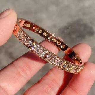 Cartier - カルティエ ラブブレス WG 17 ダイヤ ブレスレット