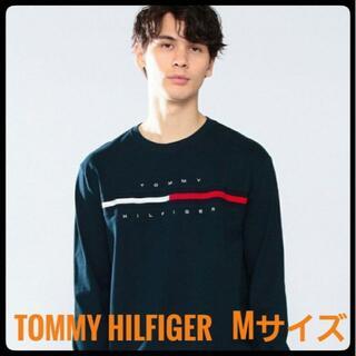 トミーヒルフィガー(TOMMY HILFIGER)のトミーヒルフィガー ロングスリーブ Tシャツ  Mサイズ ネイビー ユニセックス(Tシャツ/カットソー(七分/長袖))