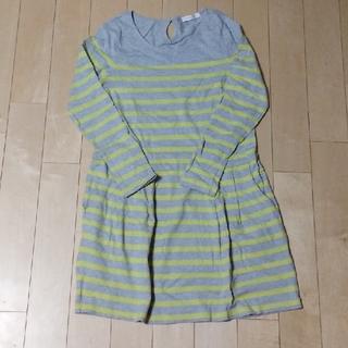 ショコラフィネローブ(chocol raffine robe)のレディース ボーダー ひざ丈ワンピース(ひざ丈ワンピース)