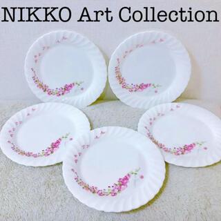 ニッコー(NIKKO)のNIKKOニッコーアートコレクション絵大皿5枚セットホース馬桜鳥プレート24cm(食器)