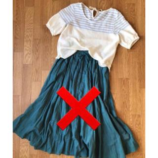 ショコラフィネローブ(chocol raffine robe)のchocol raffine robe 麻混半袖トップス(カットソー(半袖/袖なし))