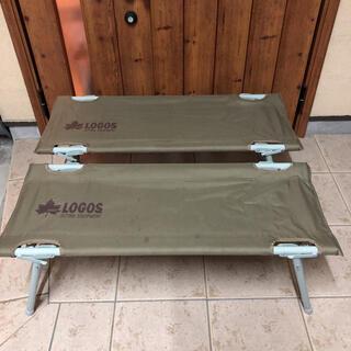 LOGOS - ロゴス LOGOS オートレッグベンチ × 2セット 収納ケース付き
