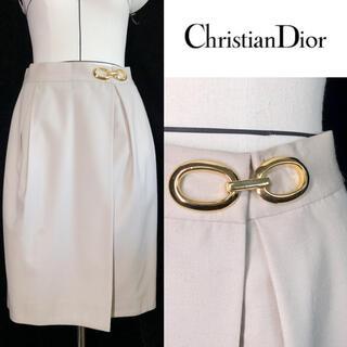クリスチャンディオール(Christian Dior)のクリスチャンディオール スカート レア希少 金具(ひざ丈スカート)