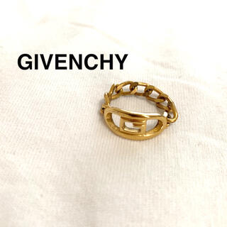 GIVENCHY - givenchy ヴィンテージチェーンリング Gモチーフ ロゴ 80s 90s