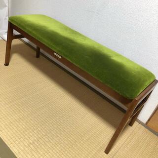 カリモクカグ(カリモク家具)のカリモク60 モケットグリーン ベンチ レトロモダン(その他)