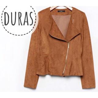 デュラス(DURAS)のDURAS【美品】長袖 ライダース ジャケット ブルゾン(ライダースジャケット)