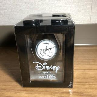 Disney - ディズニー スポーツウォッチ 黒 ミッキーマウス 腕時計