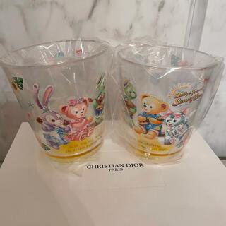 ダッフィー(ダッフィー)のダッフィーのサニーファン♡スーベニアタンブラー♡プラスチックカップ二個セット(グラス/カップ)
