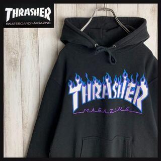 THRASHER - 【即完売モデル】スラッシャー☆人気センターロゴ パーカー ファイヤーロゴ 定番