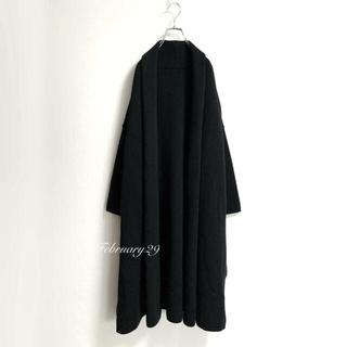 DEUXIEME CLASSE - 定価39600円 ドゥーズィエムクラス スムースニットガウン コート 黒