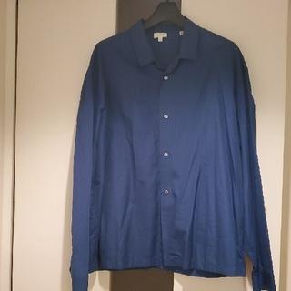 Jil Sander - JIL SANDERルーシルーク開襟オープンカラーシャツジャケット ブルー 18