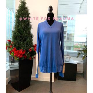 ザディグエヴォルテール(Zadig&Voltaire)のユニセックス フランスデザイナー お袖の配色がお洒落なロイヤルブルーニット(ニット/セーター)