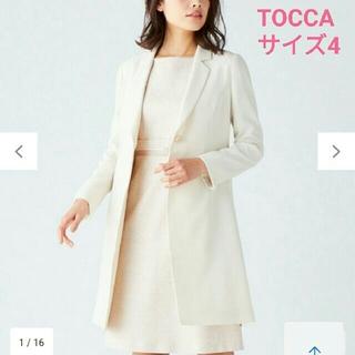 トッカ(TOCCA)のTOCCAトッカ 2019SS洗えるmintロングジャケット サイズ4 ベージュ(テーラードジャケット)