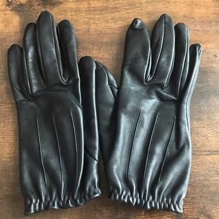 エルメス(Hermes)のHERMES 手袋 レザー 革手袋 ブラック(手袋)