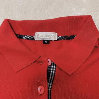 バーバリー(BURBERRY)のBURBERRYS バーバリー ポロシャツ レッド M(ポロシャツ)