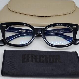 EFFECTOR - EFFECTOR眼鏡 エフェクター Fuzz-sファズエス眼鏡 美品 BKSV