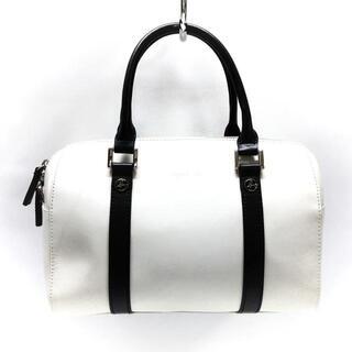 アニエスベー(agnes b.)のアニエスベー ハンドバッグ - 白×黒(ハンドバッグ)