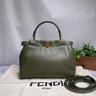 フェンディ(FENDI)の専用✨美品✨FENDI✨ピーカブー ミニ モスグリーン 2WAY(ハンドバッグ)