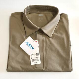 UNIQLO - 新品タグ付き ユニクロ エアリズムヒヨクエリポロシャツ(半袖)