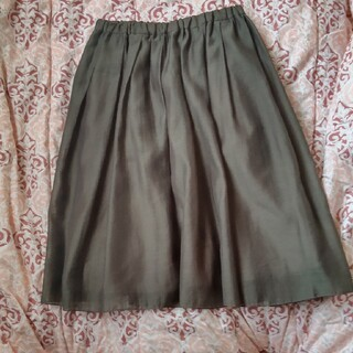 テチチ(Techichi)のテチチ フレアスカート オーガンスカート カーキ(ひざ丈スカート)
