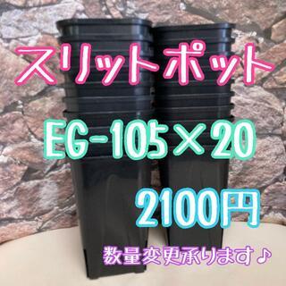 ◎20個◎ロング スリットポット EG-105L slitpot プラ鉢(プランター)