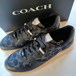 コーチ(COACH)の正規店購入 コーチ シグネチャー レザー スニーカー 新品、箱付き サイズあり(スニーカー)