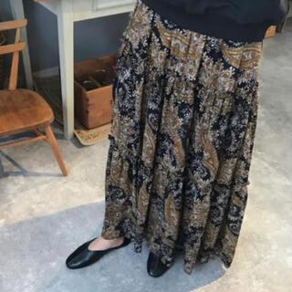 トゥデイフル(TODAYFUL)の美品 FLEN マキシスカート ペイズリー柄 定価14000程(ロングスカート)