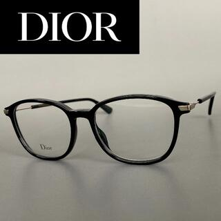 Christian Dior - メガネ ディオール ボストン ブラック シルバー メタル 黒 銀 黒縁