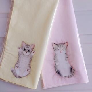フェリシモ(FELISSIMO)の新品 フェリシモ 猫部 タオル ハンカチ (サバ&キジ白) 猫 ねこ ネコ(その他)