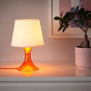 IKEA -  IKEA イケア LAMPAN テーブルランプ29 cm オレンジ ホワイト